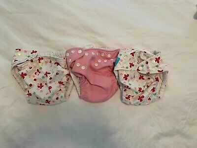 Lot of 3 Charlie Banana One Size Cloth Diapers (3 Pockets, 6 Inserts)
