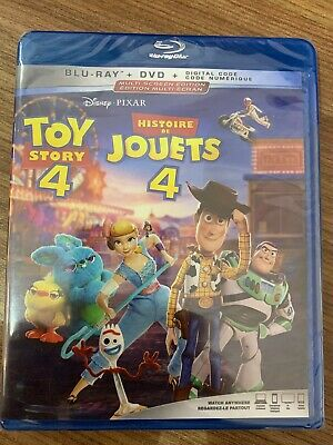 Disney Toy Story 4 BluRay & DVD Canada Bilingual NO DC LOOK