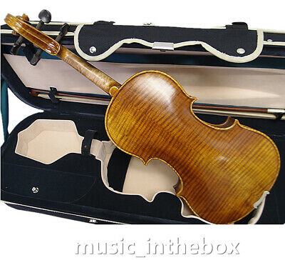 Special 4/4 Antique with Higher Flamed Back Violin+Rosin+Bow+Case#AQ-S8