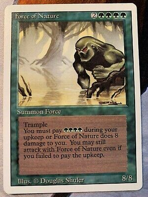Magic The Gathering ~ 1x Force of Nature ~ REVISED ~ MP