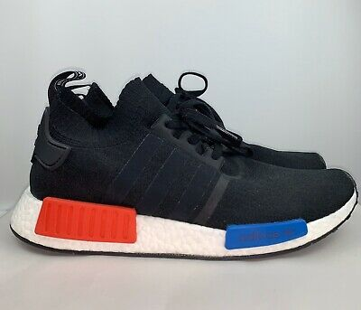 ADIDAS NMD R1 pk OG Black Red And Blue Pre Owned Mens Size