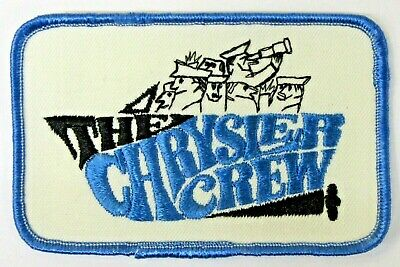 1966-1967 THE CHRYSLER CREW hydroplane boat RACING shirt jacket patch tr1