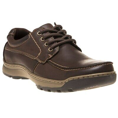 New Mens Hush Puppies Brown Tucker Nubuck Shoes Lace Up