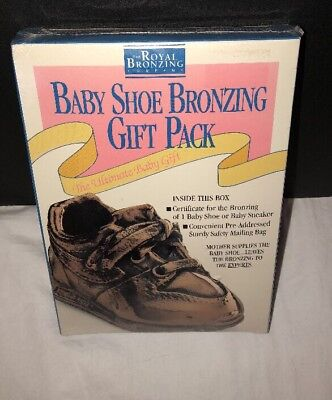 Royal Bronzing Company Baby Shoe Bronzing Gift Pack Vintage Sealed