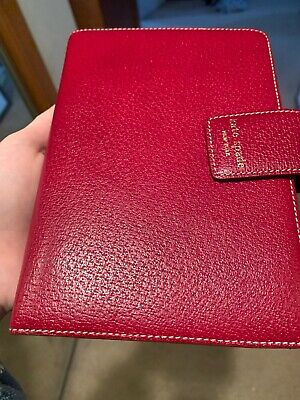 Kate Spade Agenda Planner Red Debra Excellent Condition