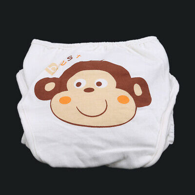 Newborn Baby Diaper Nappy Cover Diapers Pocket Care Washable Cute Cow Print SS