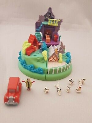 Vintage Polly Pocket Disney 1996 101 Dalmatians Puppies' Adventure Complete