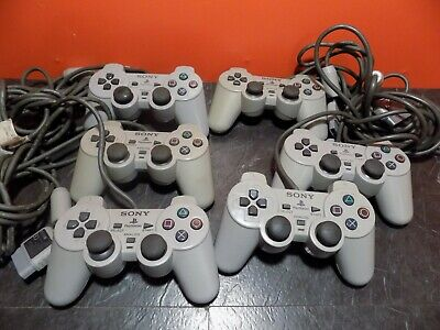 Sony Playstation 1 PS1 Official Grey Dual Shock Control Pad Controller
