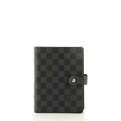 Louis Vuitton Ring Agenda Cover Damier Graphite MM