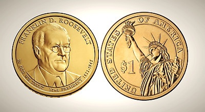 2014 D Franklin D. Roosevelt Presidential Series Dollar UNC MS Uncirculated!!
