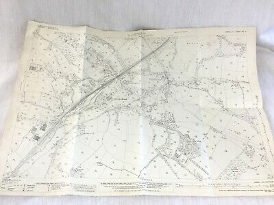 1931 Antique Map of Sussex Rotherfield Hall Jarvis Brook Village Crowborough