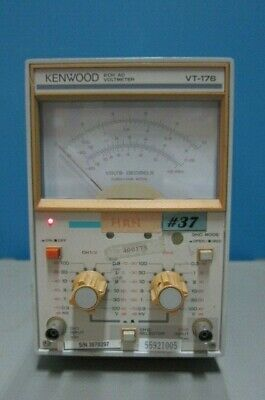 Kenwood VT-176 2-Channel AC Voltmeter, 0.3mV-100V