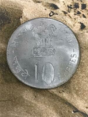 1972 India Republic '25th Anniversary Independence' 10 Rupees