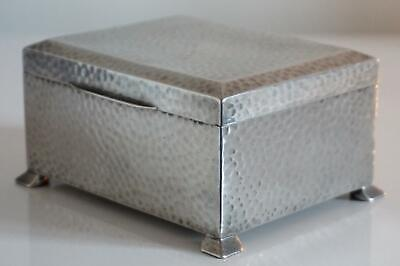 Tudric Pewter Liberty & Co. Hammered Cedar Lined Box - Design No 01366 - c.1920