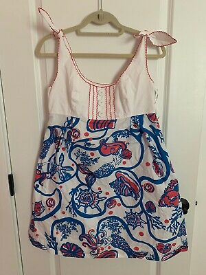 Lilly Pulitzer Womens Size 8 Mermaid Cotton Summer Dress