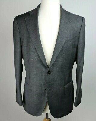 SuitSupply Charcoal Grey Solid Wool Lazio Jacket Pants Suit - 40 S/ 34 W