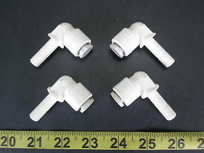 Lot of 4 New Parker Push-to-Connect Parflex Fitting TrueSeal Elbow PP6TEU6