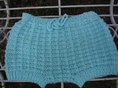 Handmade Knitted Baby Boy Pants, Nappy Cover