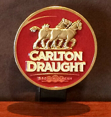 Carlton Draught Beer Tap Top Badge & Bracket
