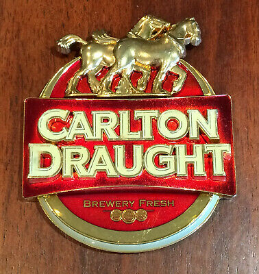Carlton Draught Beer Tap Top Badge