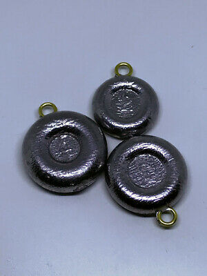 Lot of 36 River Fishing sinkers 2oz and 3oz weights Coin 12 of each 1oz