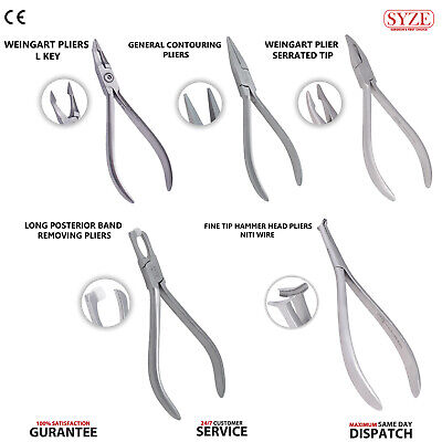 Orthodontic Weingart Plier Dental Long Posterior Adhesive Band Removal Pliers CE