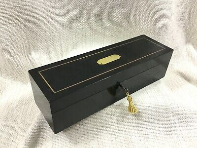 Antique French Napoleon III Boulle Marquetry Jewelry Decorative Glove Box