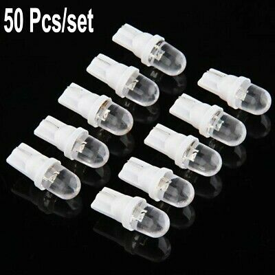 50PCS T10 158 168 194 W5W  501 White LED Side Car Auto Light lamp Wedge Bulb 12V