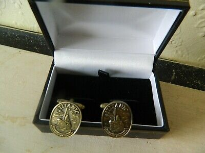 TITANIC CUFFLINK IN A BOX COLLECTABLE  WHITE STAR LINE