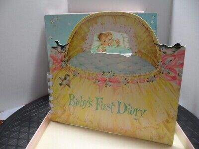 Vintage Baby's First Diary With Original Box
