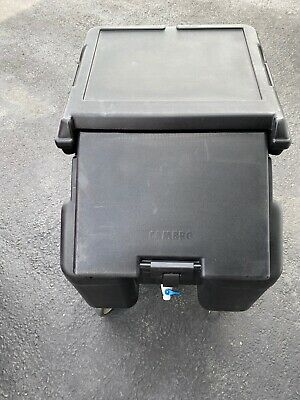 Cambro ICS100L110 Sliding Lid Mobile Black Ice Caddy with 100lb Ice Capacity