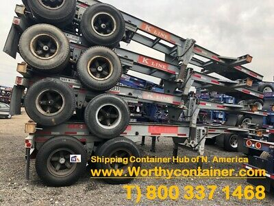 20' Chassis / 20ft Shipping Container Chassis for sale - Cargo Worthy (CW)