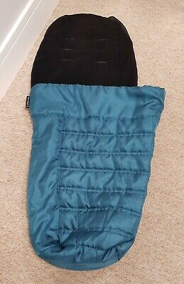 Genuine Baby Jogger City Select teal blue footmuff/cosytoes. 2 available