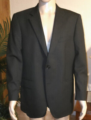 """JOS A BANK men""""s suit jacket blazer wool size 42R and 2 bottons black"""