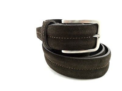 PA5- Men's Belt 120 cm Adjustable Made in Italy 100% Brown Leather Retail
