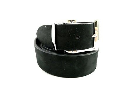 PA3- Men's Belt 130 cm Adjustable Made in Italy 100% Black Leather Retail