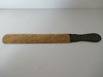 Antique English letter opener / page turner / 1889 calendar / map