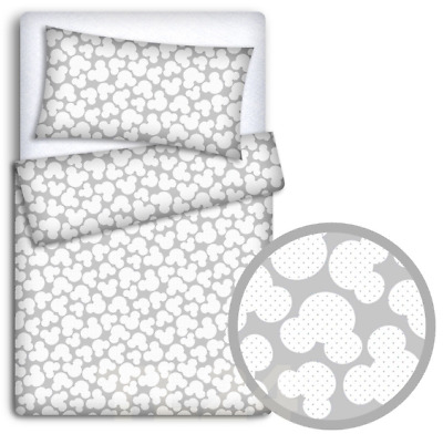 Fox Grey Duvet Cover 2PC to FIT Baby COT Bed Baby Bedding Set Pillowcase