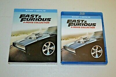 Fast and Furious: 8-Movie Collection (Blu-ray Disc, 2017, 9-Disc Set) No Digital