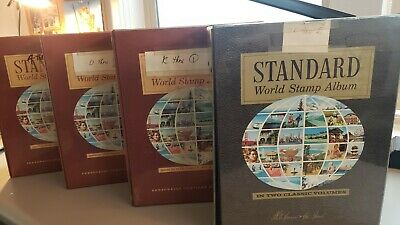 Worldwide collection of 4 Albums stuffed full of 1000's of stamps incl. U.S.