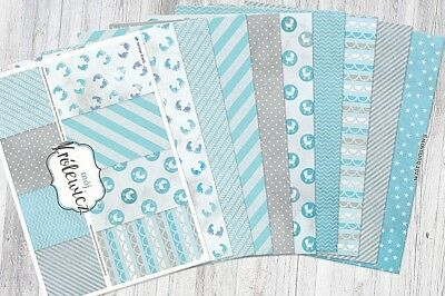 A4 scrapbooking glossy paper cardstock My Prince 8 sheets 2 x 8designs 250gsm