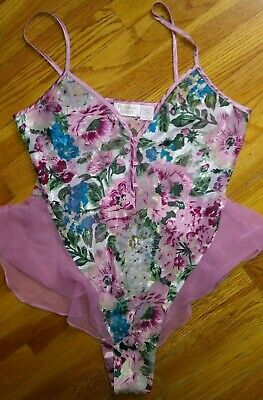 VICTORIA'S SECRET Pink Floral Polyester Silky Flutter Teddy Small