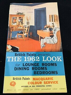 British Paints 1962 colour card brochure, c. 1950s Australia vintage mid-century