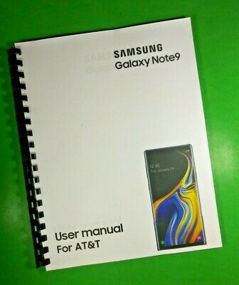 "LASER 8.5X11"" Samsung Galaxy Note9 For AT&T Phone 189 Page Owners Manual Guide"