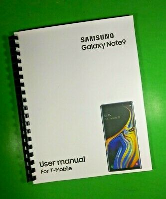 "LASER 8.5X11"" Samsung Galaxy Note9 For T-Mobile Phone 188 Page Owners Manual"