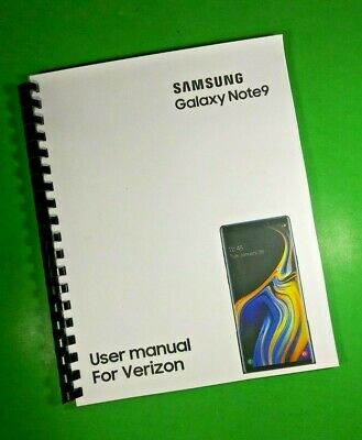 "LASER 8.5X11"" Samsung Galaxy Note9 For Verizon Phone 192 Page Owners Manual"