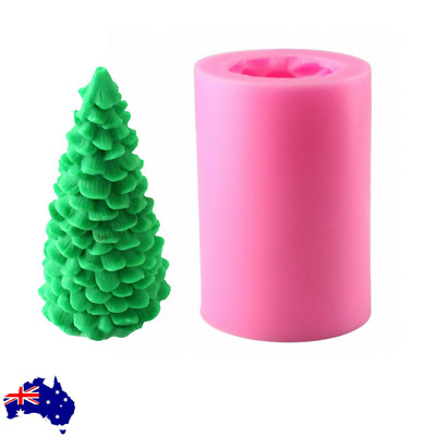 Silicone 3D Christmas Tree Candle Mold Xmas Cedar DIY Aromatherapy Mould AU