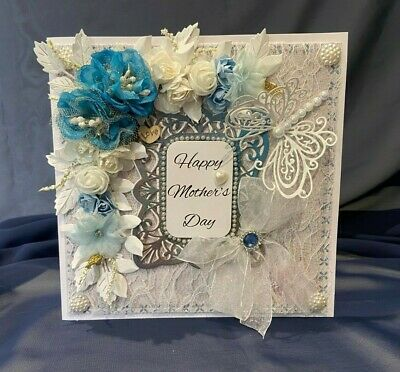 Handmade Mother's Day Card - Very Large Deluxe Shabby Chic Gift Card
