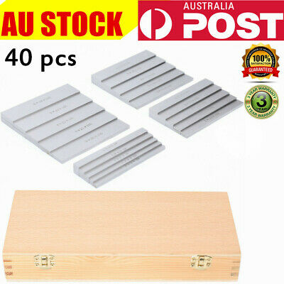 Parallel Gauge Block Set Ground Steel x 40 pc Set Precision Tool 100mm Length