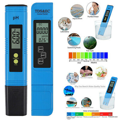 Digital Electric TDS/PH Tester Water Quality Meter Monitor Drinking Display